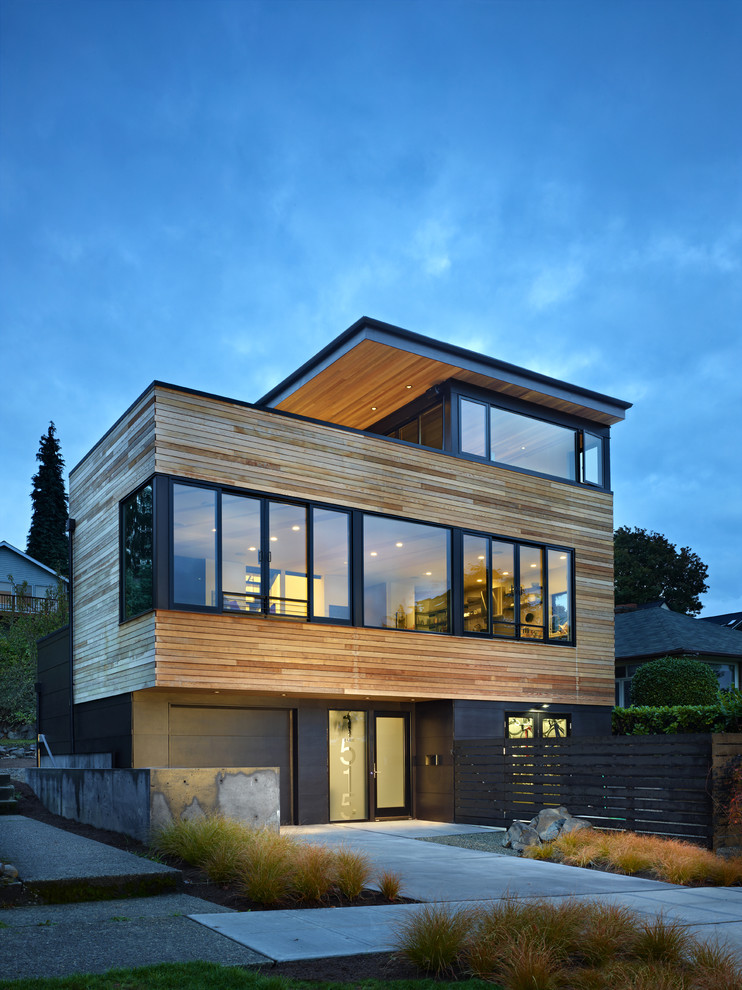 Cycle house design by chadbourne doss architects for Wooden house exterior design