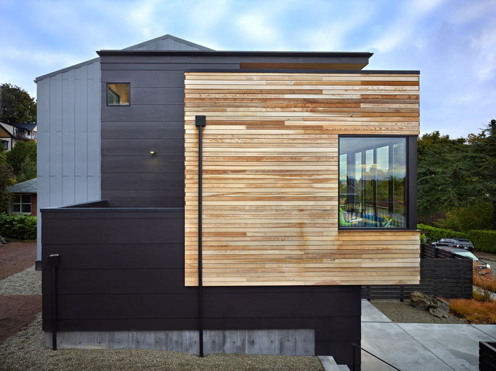 Cycle house design by chadbourne doss architects for Modern fiber cement siding