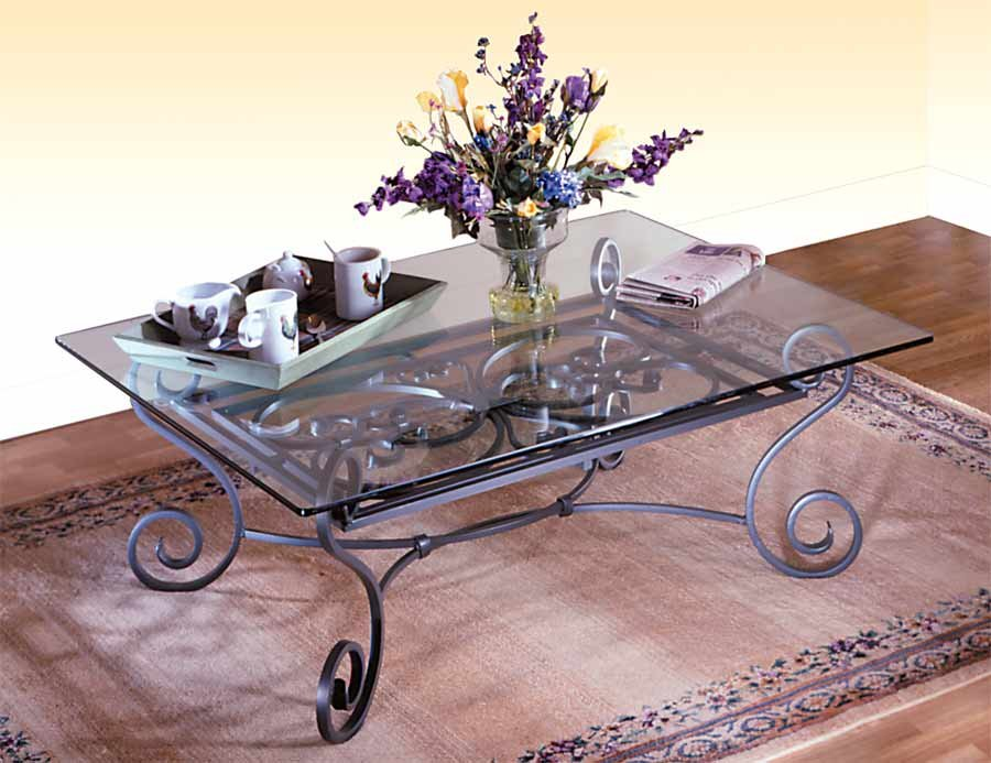 wrought iron base table