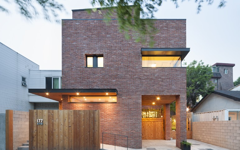 Brick house exterior design