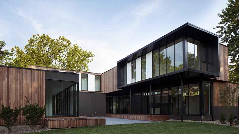 Baulinder haus modern house hufft projects in kansas city for Modern home design kansas city
