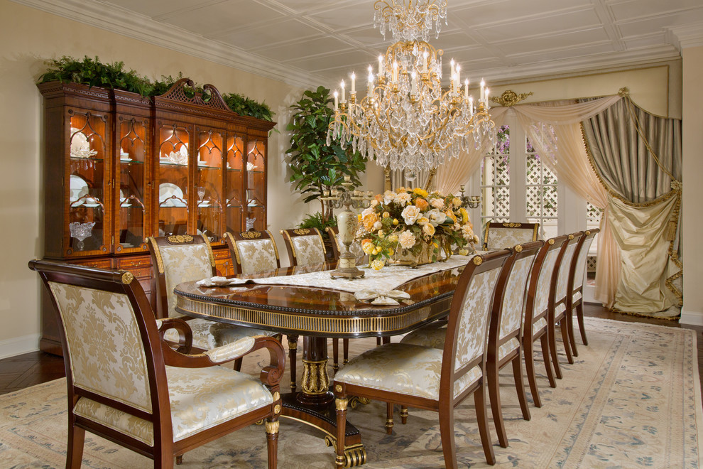 Dining room with luxury dining set