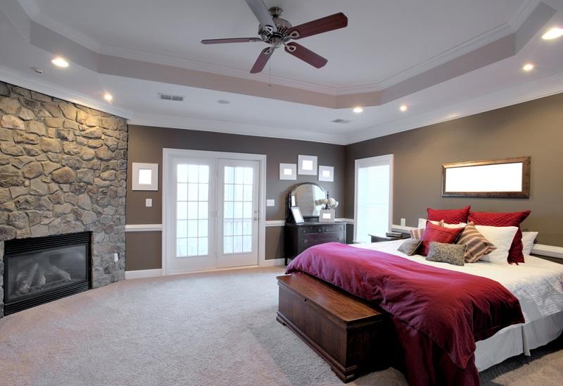 purple, red and orange bedroom