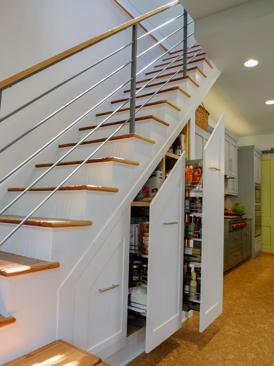Kitchen Under Stairs Storage ~ Under stairs shelving design ideas