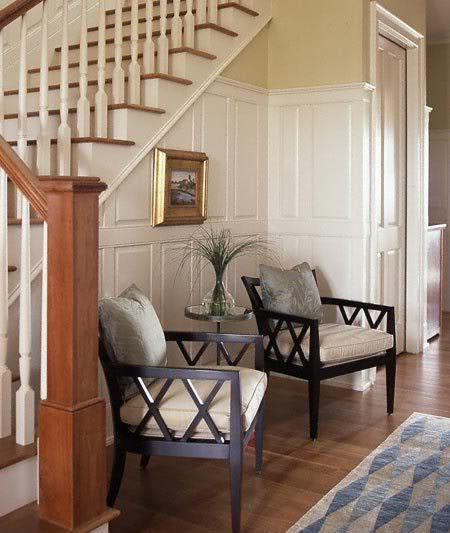 Foyer Table Chairs : Under stairs shelving design ideas