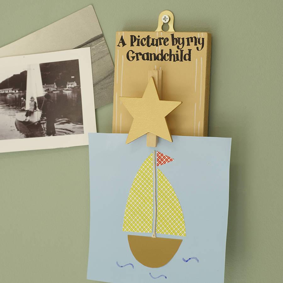 Picture By My Grandchild' Peg Board