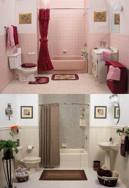 Brown bathroom Decors