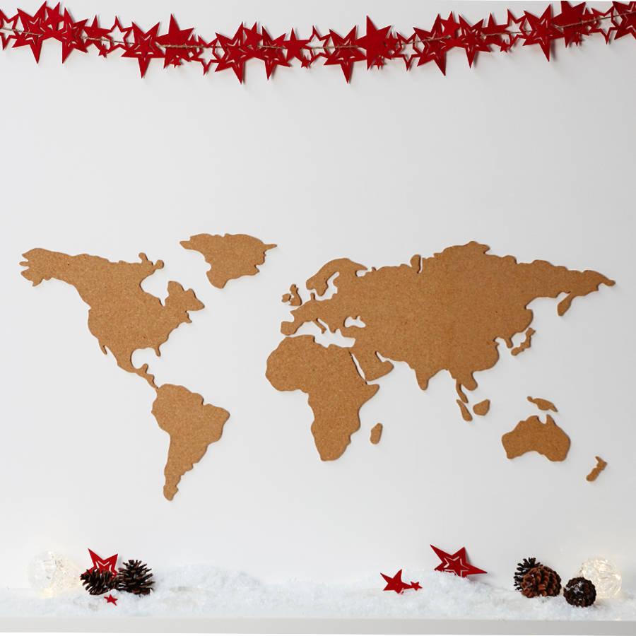 World Map Cork