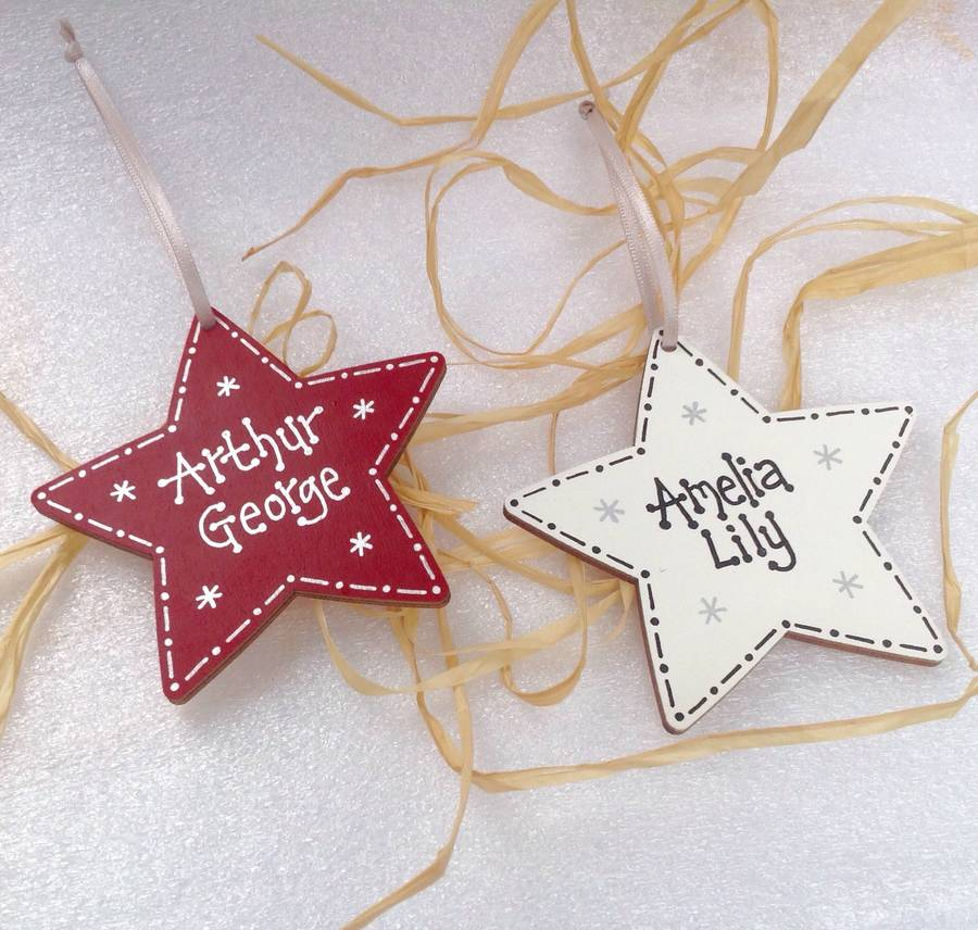 hand painted Star decoration