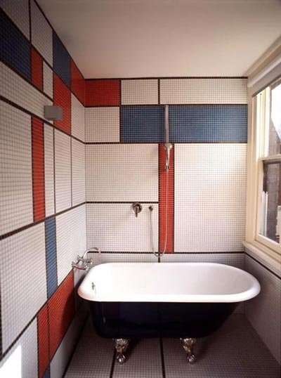 colored bathroom tiles