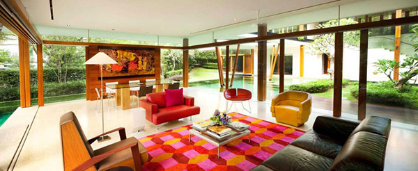 Colorful living area
