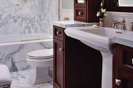 Bathroom with a modern sink