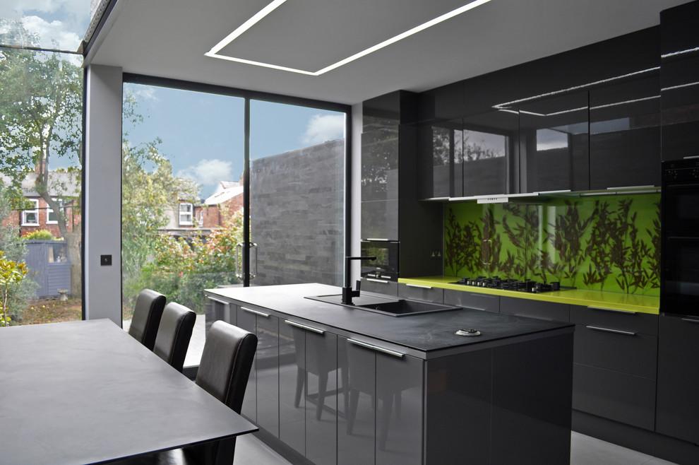 contemporary dark cabinets