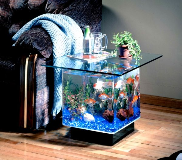 Midwest Tropical Aquarium End Table
