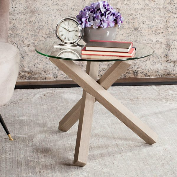 End Table With Wooden Legs