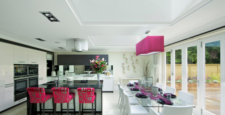 Pink Fabrics with Black Marble