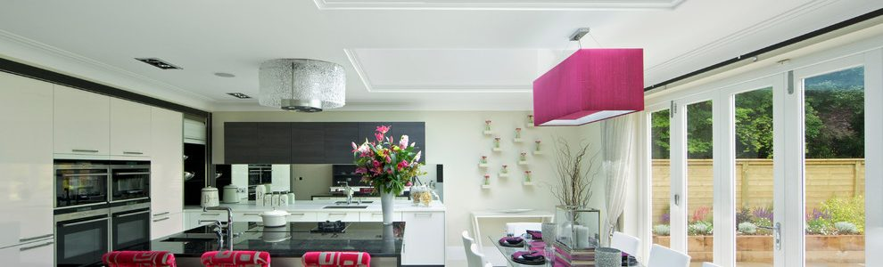 Black And Pink Kitchen Ideas