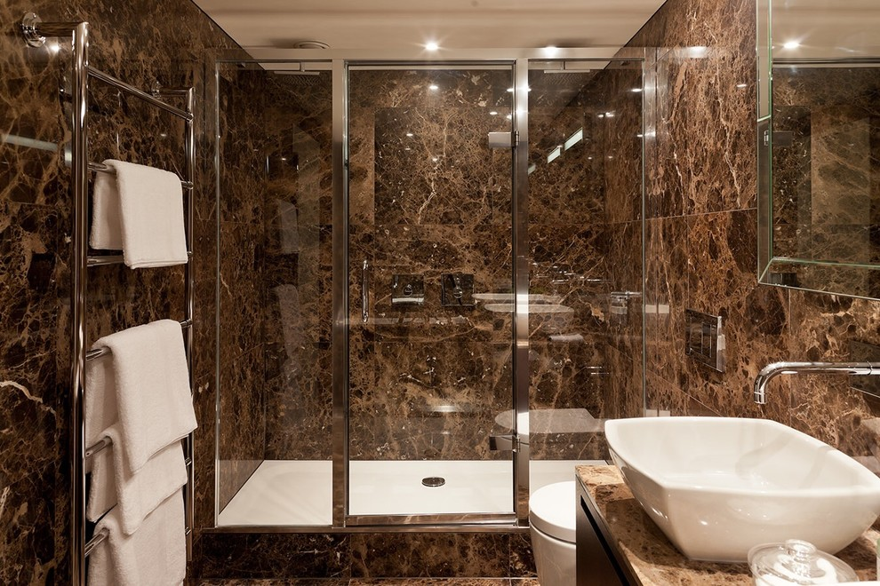 Glossy marble tiles
