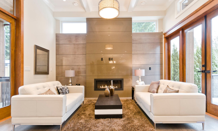 Contemporary fire place