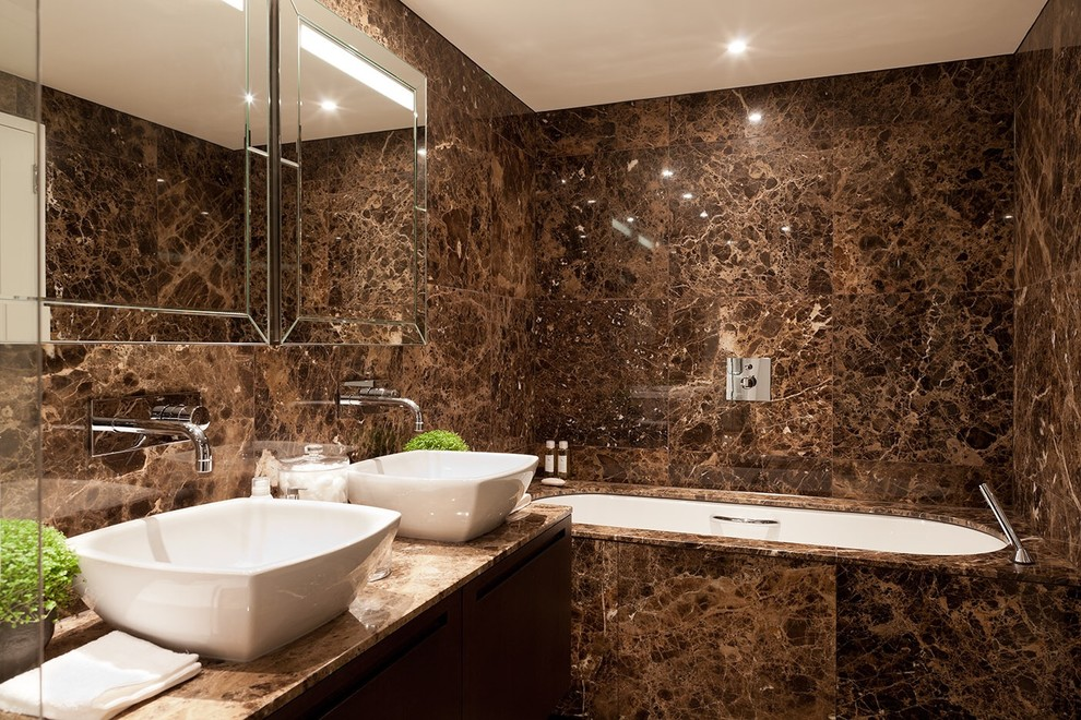 brown bathroom