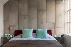 Concrete walls bedroom wall textures ideas