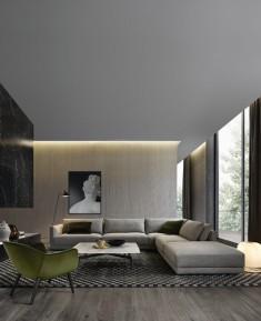 poliform contemporary living room
