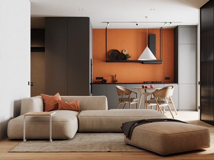 Colour Cohesive Interiors Under 55 Sqm (With Floor Plans)