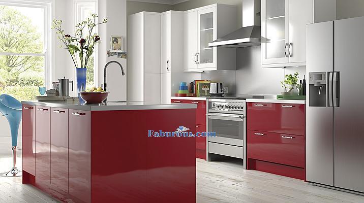 high gross red kictchen design