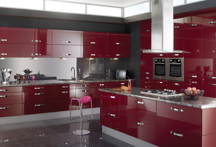 15 High Gloss Kitchen Designs in Modular kitchen colours