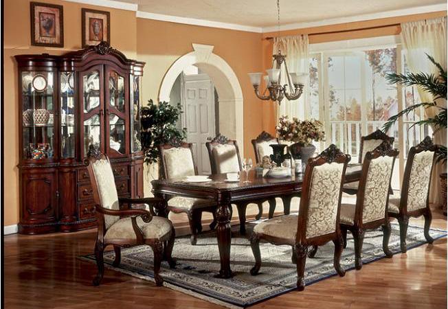 Walnut Victorian Dining Room Design