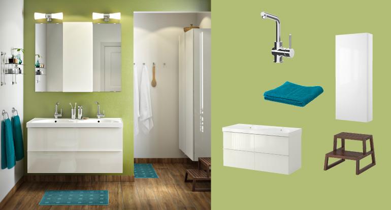 small bathroom accessorie arrangement
