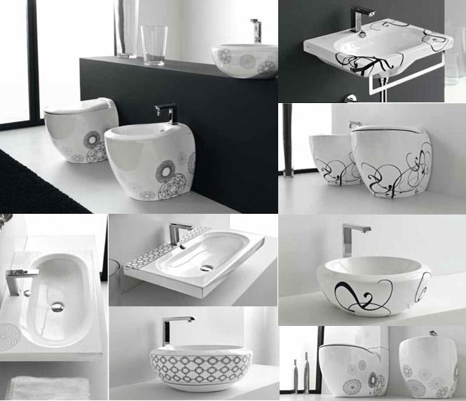 patterned wash basin
