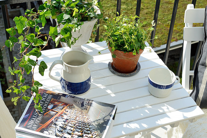 blacony and patio plant decorations