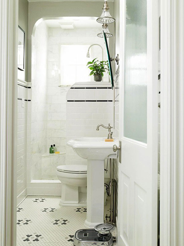 Chic ideas for small bathrooms with shower on Small Bathroom Ideas With Shower Only id=72748