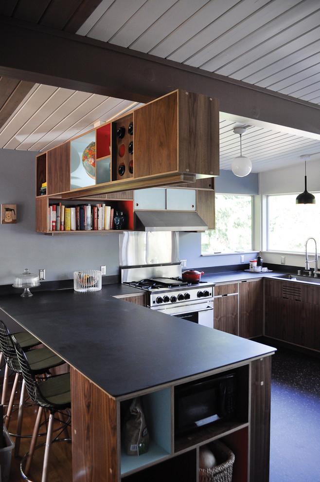 Slate Countertops Designs on Modern Kitchen Counter  id=98259