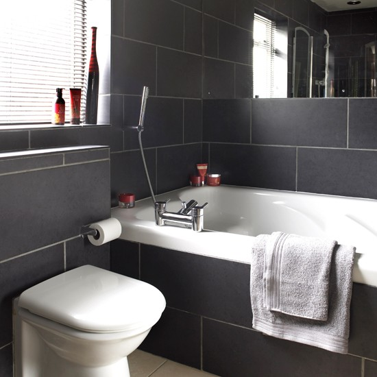Simple yet trendy small bathroom design