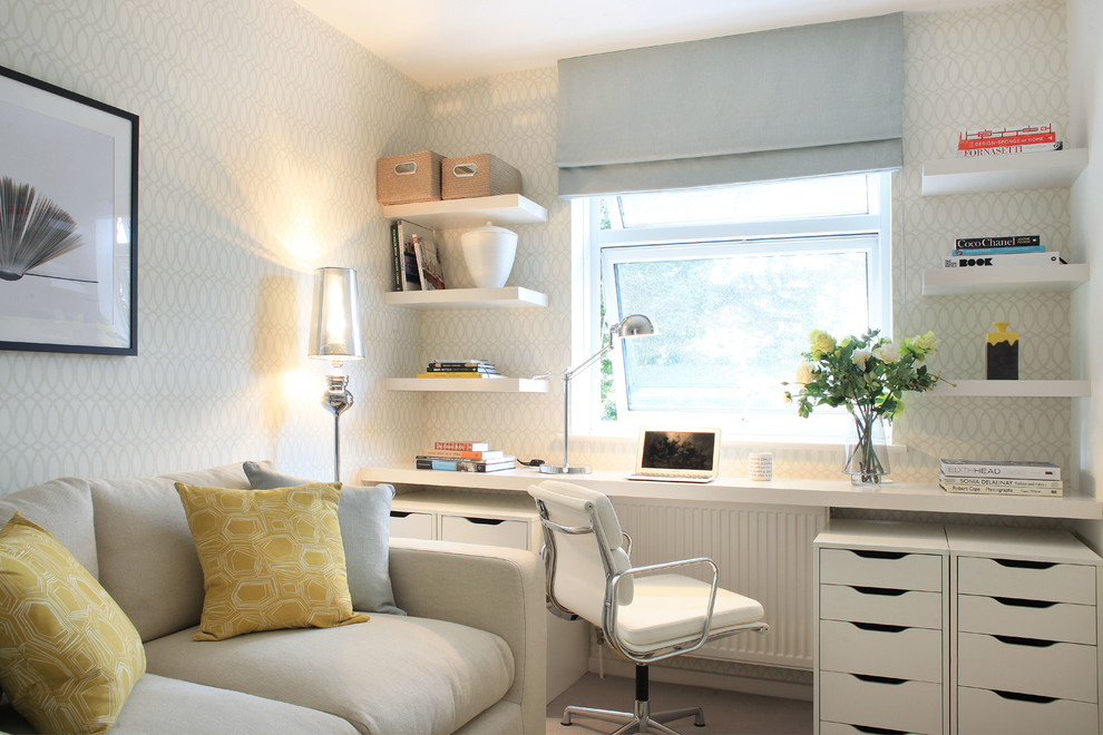 Transitional home office design