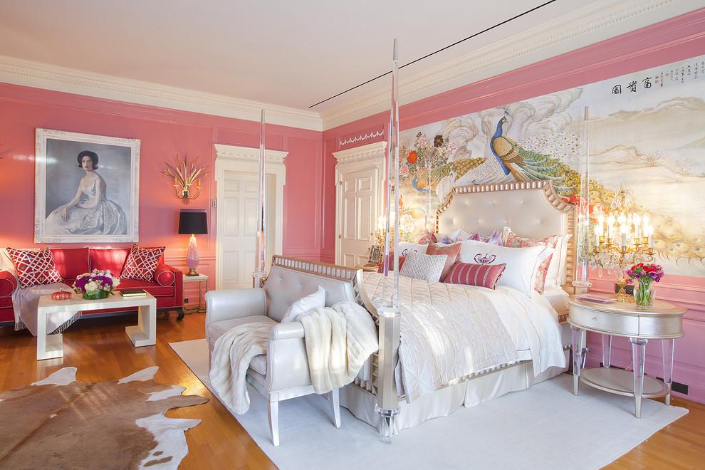 pink bedroom walls