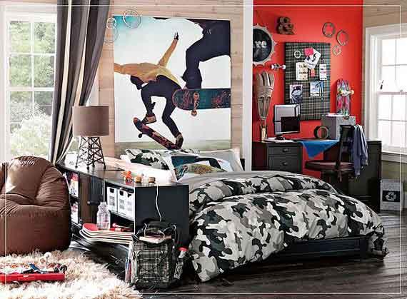 Teenage boy's bedroom