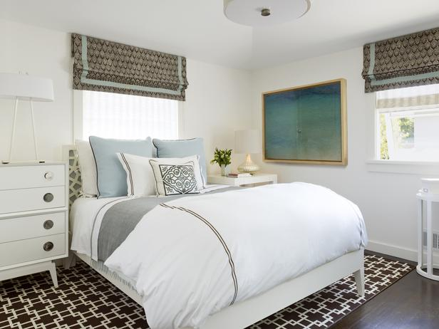 Bedroom with a large area rug