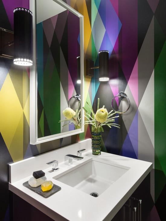 Bright, geometric wallpaper