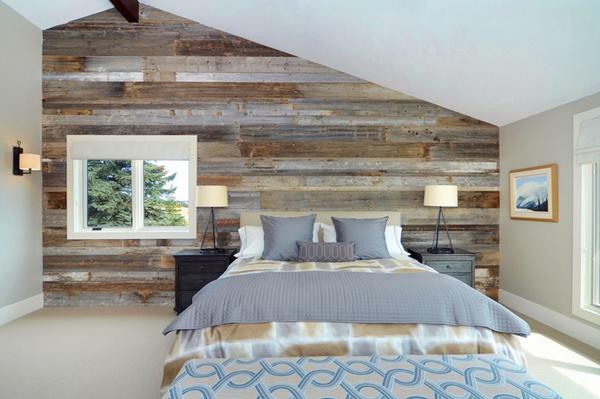 Beautiful attic bedroom design