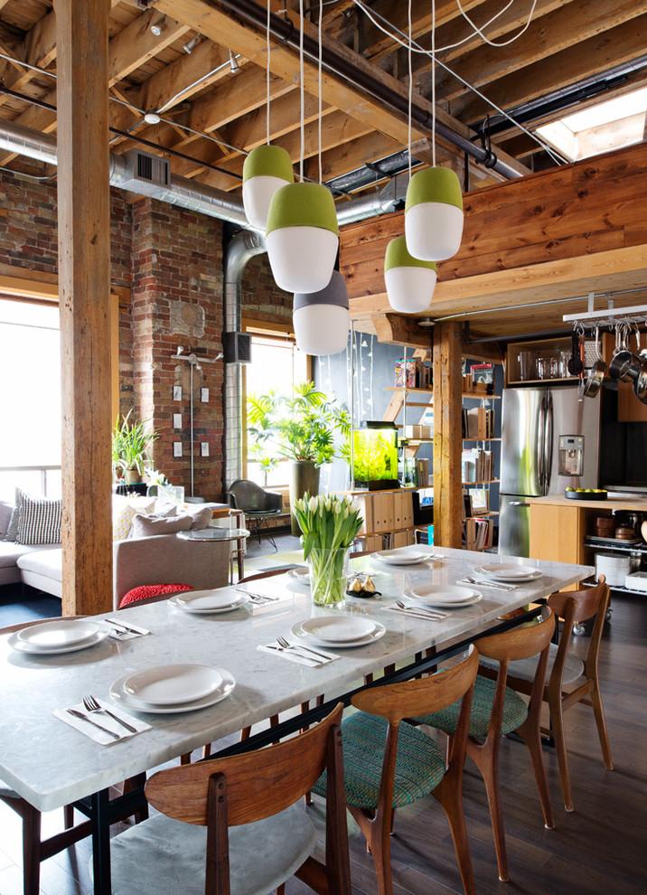 Using Rustic Industrial Dining Furniture