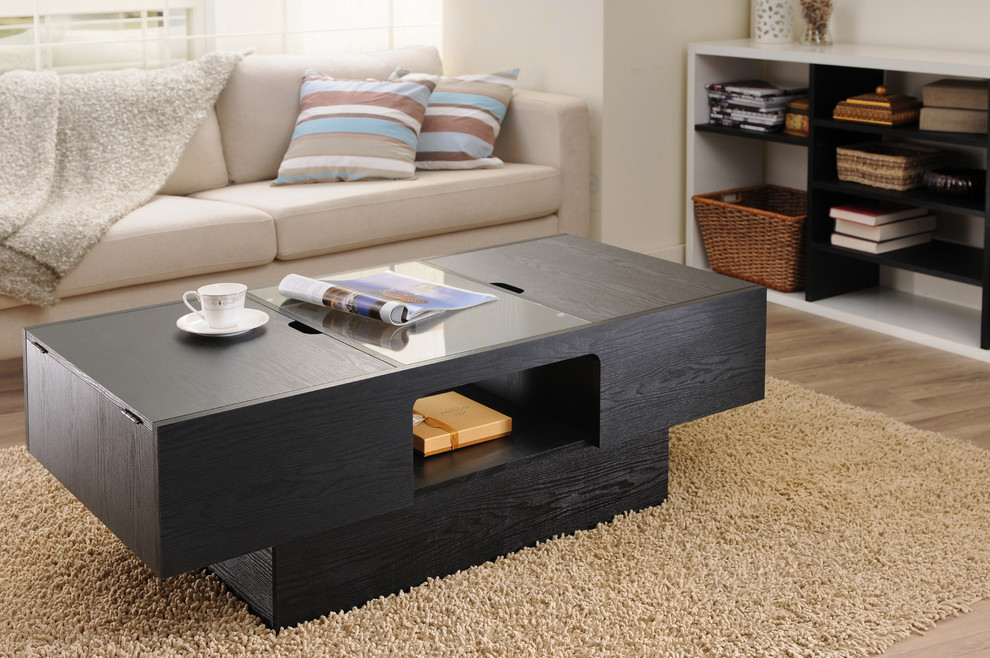 Coffee table with storage on the sides