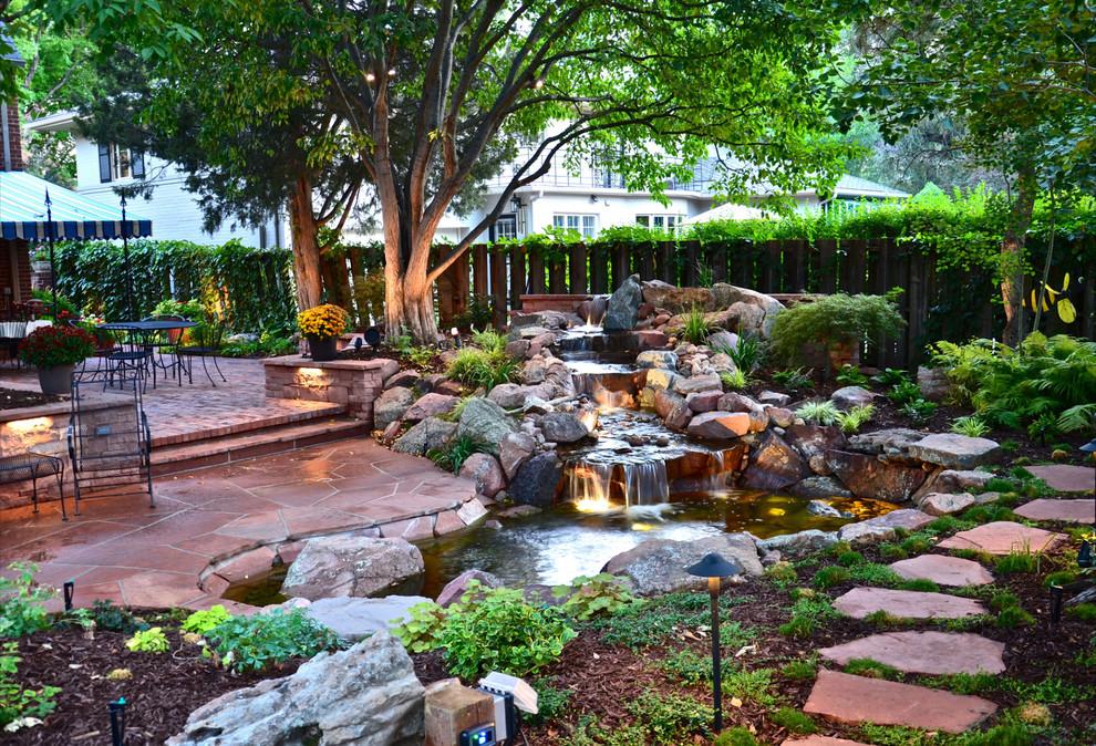 Garden Pond Waterfalls Design Ideas