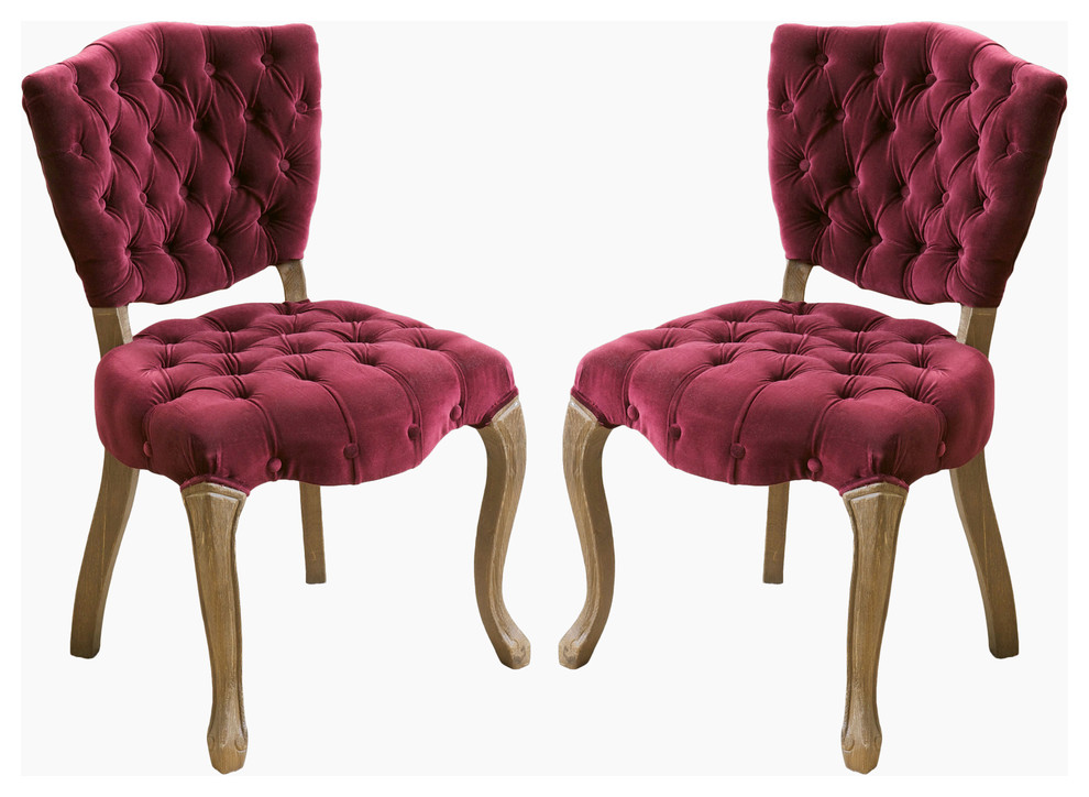 red dining room chairs