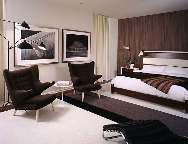 Bedroom with two wall art decor