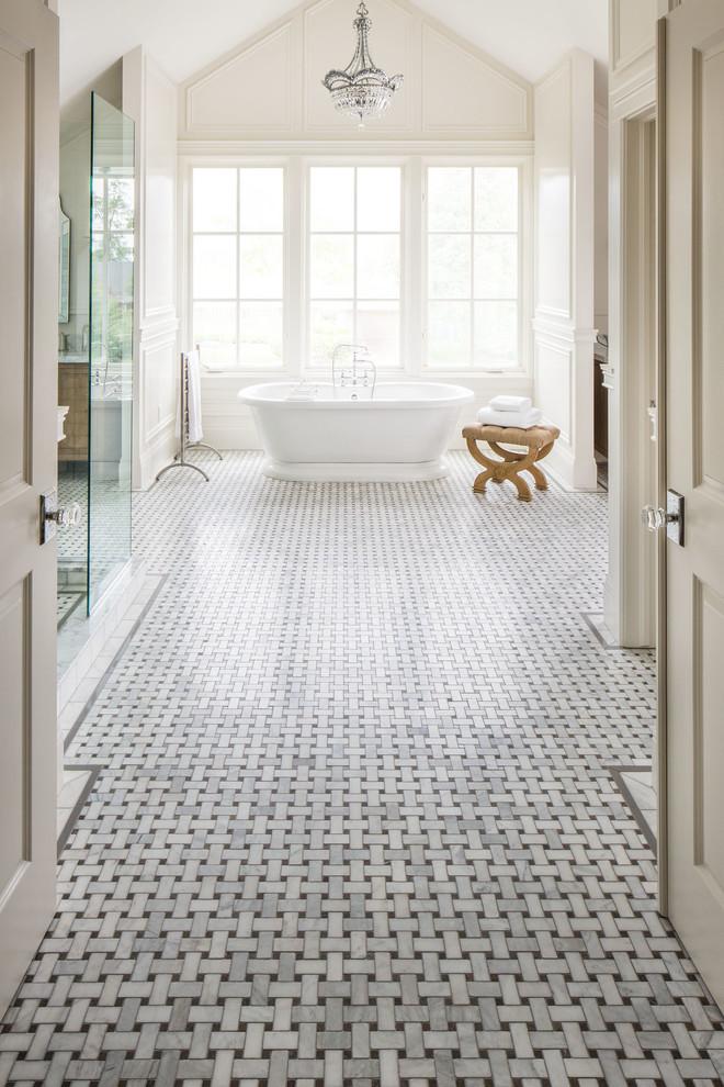 Tile floor designs for bathrooms