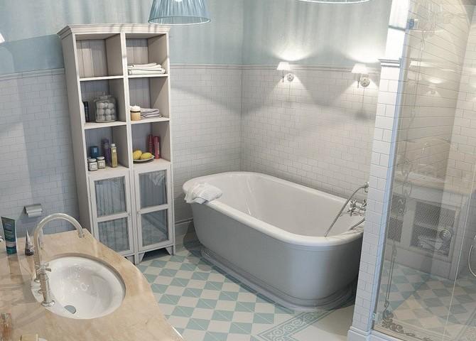 Bathroom tiles concept