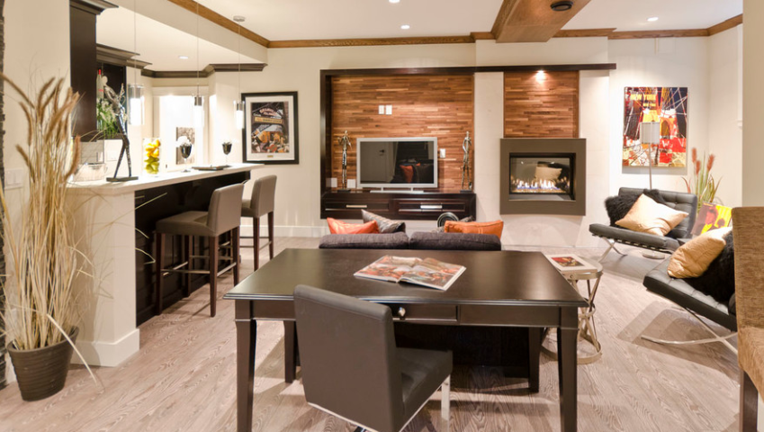 Decorating Your Living Room With Brown Fireplace